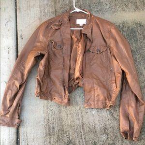 Jackets & Blazers - Non leather fashion jacket tan sz xxl